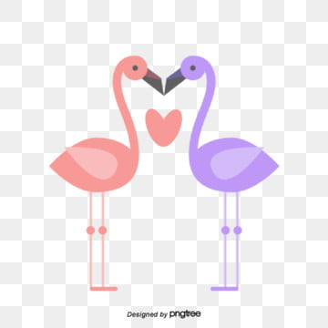 valentines day animal lovers illustration, Red-crowned Crane, Animal, Cartoon PNG and Vector