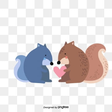 valentines day animal lovers illustration, Animal, Cartoon, Lovely PNG and Vector