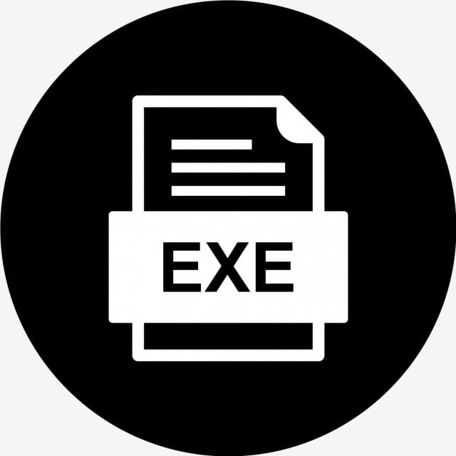 Exe File Document Icon, Exe, Document, File PNG and Vector