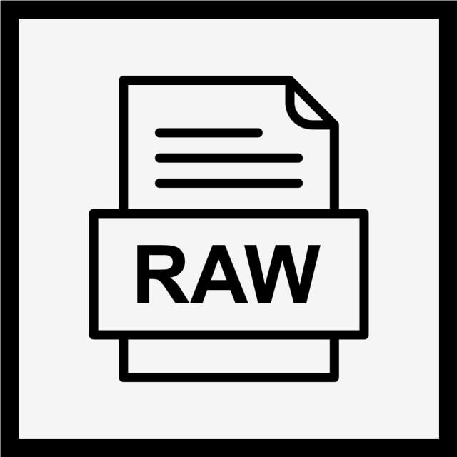 RAW File Document Icon, Raw, Document, File PNG and Vector