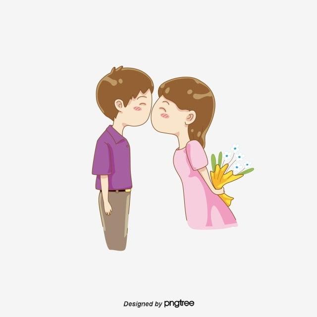 Gambar Hari Valentine Mencium Romantis Ciuman Elemen Gadis Png Dan Vektor Untuk Muat Turun Percuma