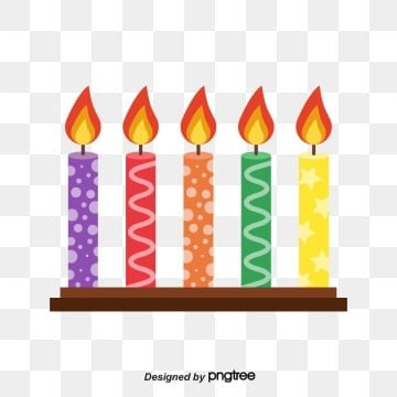 Patterned Birthday Candle Combination, Lovely, Celebrating, Wave Point PNG and Vector