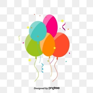 Colorful birthday party balloons, Rise, Multicolor, Celebrating PNG and Vector