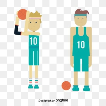 illustration of blue basketball players, Flat, Illustration, Basketball PNG and Vector