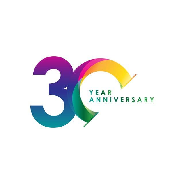30 Year Anniversary Symbol: 30 Year Anniversary Vector Template Design Illustration