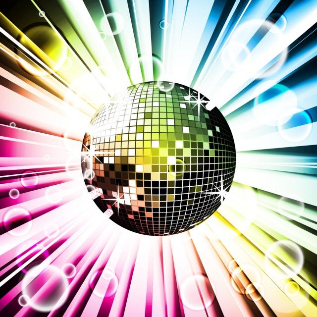 280317481824 Abstract Vector fondo brillante con bola de discoteca Gratis PNG y Vector