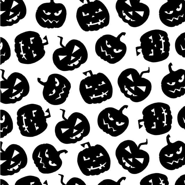 Halloween Vector Black And White.Black And White Halloween Elements Pattern Background Black Dark