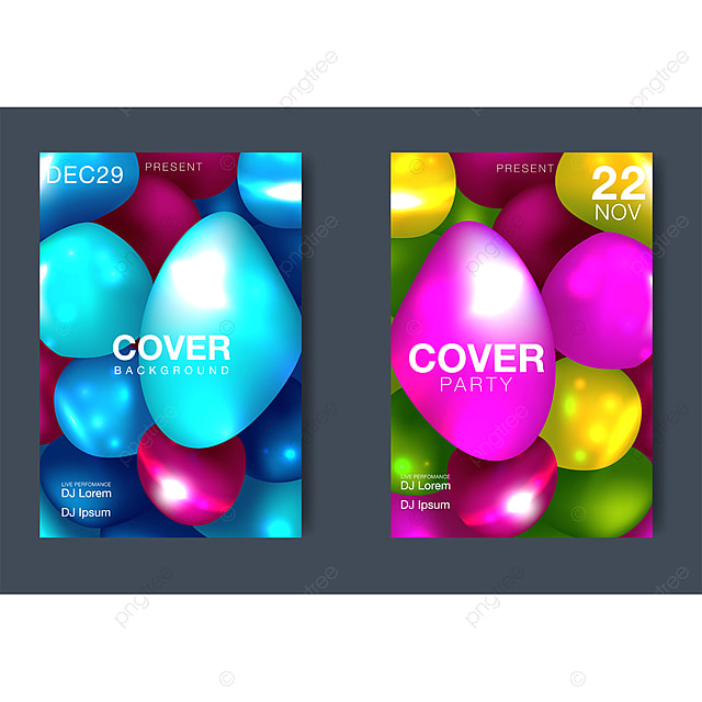 Flowing Multicolored Spheres Vector Creative Illustration
