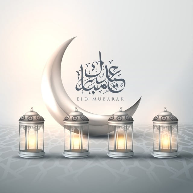 greeting card template islamic vector design for eid