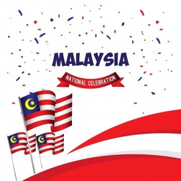 malaysia national celebration poster vector template design illustration, Malaysia, Day, Merdeka PNG and Vector