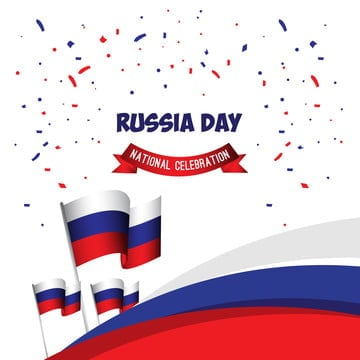 russia day national celebration poster vector template design illustration, Russia, Day, June PNG and Vector