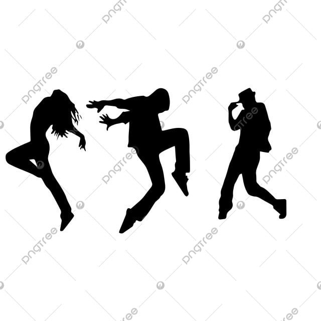 T Dance Silhouette Hip Hop Silhouette Portrait Png Png And Vector With Transparent Background For Free Download