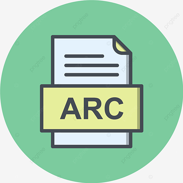 Arc File Document Icon, Arc, Document, File PNG and Vector