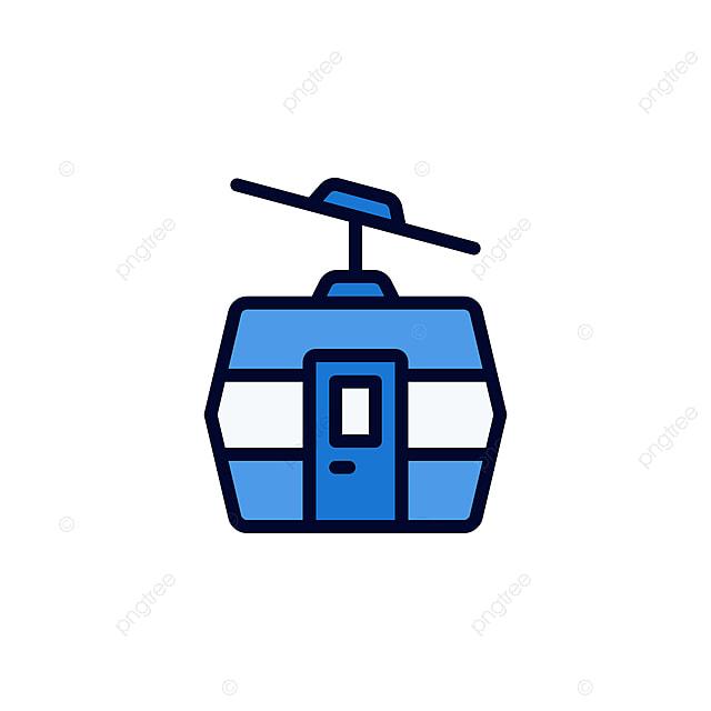 Cable Car Icon Vector Iración En Lleno De Estilo Para Cualquier Propósito Gratis Png Y
