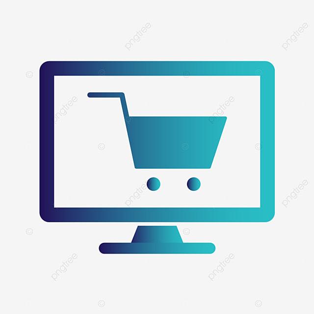 Il Vettore Di Shopping Online L Icona, Sfondo, Black, Comprare ...
