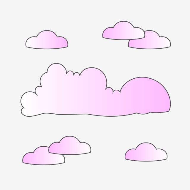 Violet Gradient Clouds Clipart, Violet, Gradient, Clouds PNG