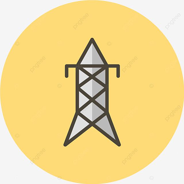 ikon menara listrik vektor menara menara listrik listrik png dan vektor dengan latar belakang transparan untuk unduh gratis ikon menara listrik vektor menara