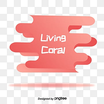 coral gradient fluid elements living coral coral, Element, Creative, Fluid PNG and Vector