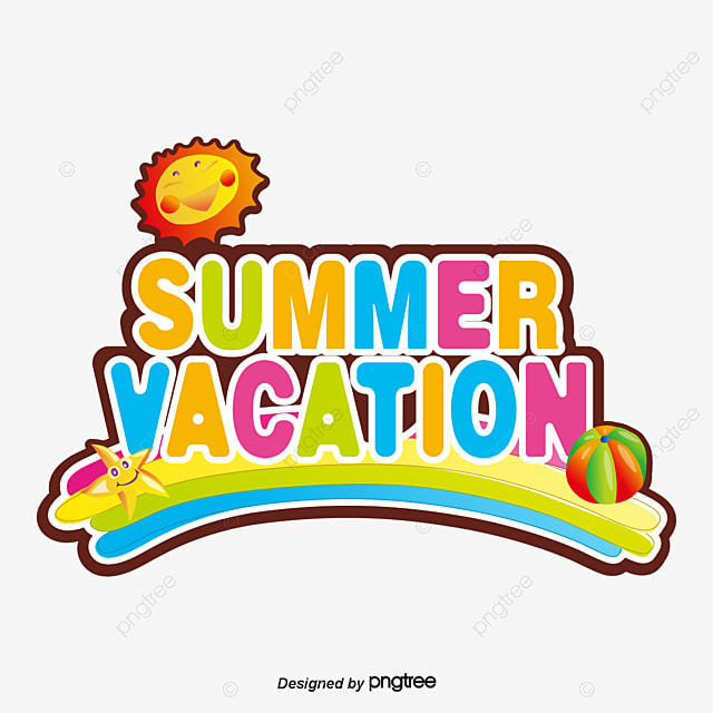 Summer Holiday Colorful Rainbow Sun Cubist Art Words Font Effect Ai For Free Download