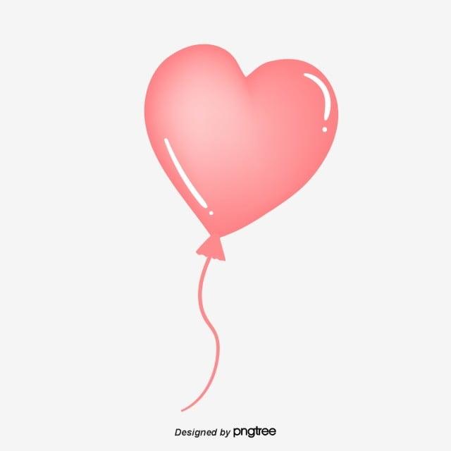 Pink Love Balloon, Element, Graffiti Love, Heart Love PNG