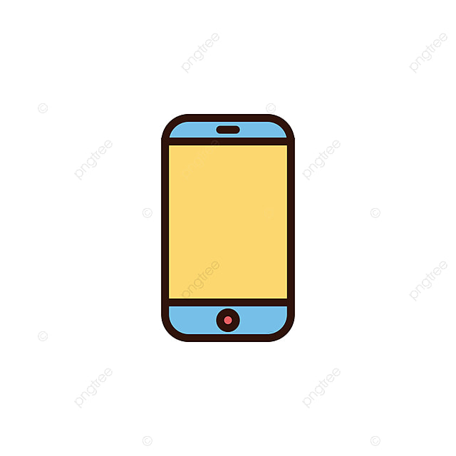 Handphone Icon Vector Illustration In Filled Style For Any Purpose