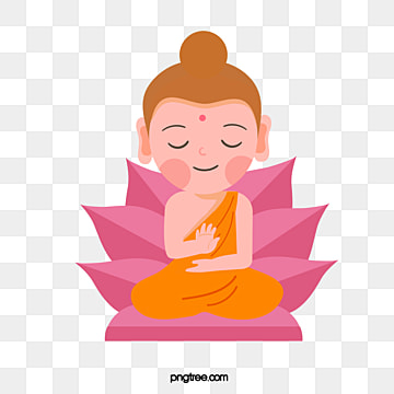 hand-painted cute cartoon little buddha, Buddhism, Buddhas Birthday, Cartoon PNG and Vector