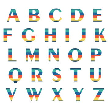 retro text colorfull 2 english alphabet Fonts