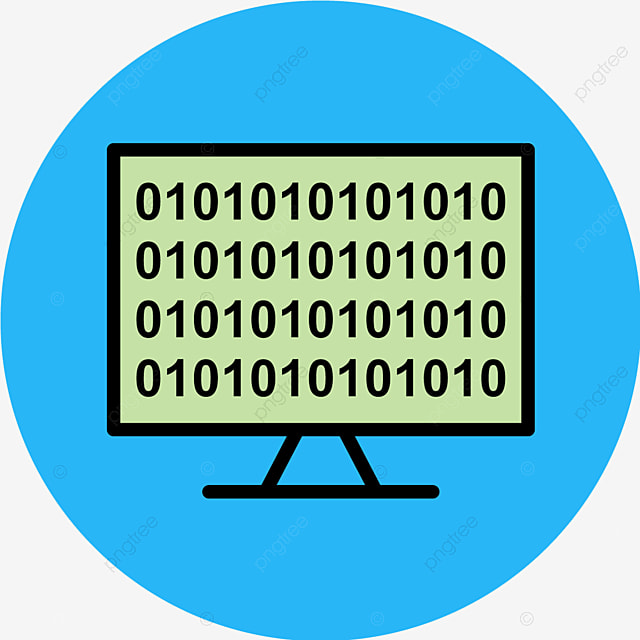 Vector Binary Code Online Icon, Binary, Code, Coding Icon PNG and