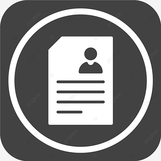Vector Resume Icon Contract Cv Document Png And Vector With