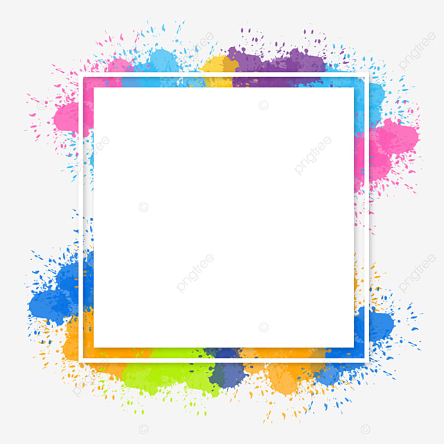 watercolor colorful brush splash abstract frame background  paint  splash  background png and