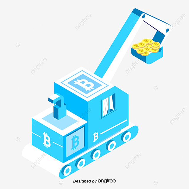 Blue Gold Coin Excavator, Letter, Excavating Machinery