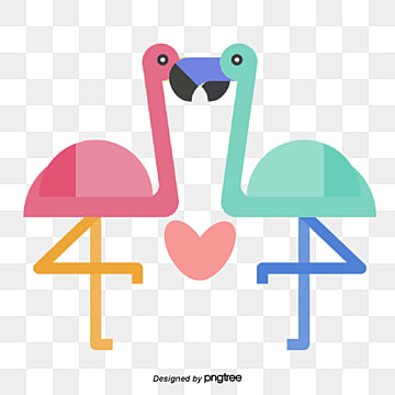 crane lovers on valentines day, Kiss, Animal, Cartoon PNG and Vector