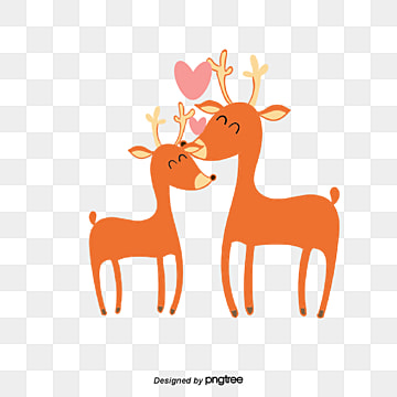 Giraffe Lovers on Valentines Day, Animal, Cartoon, Lovely PNG and Vector