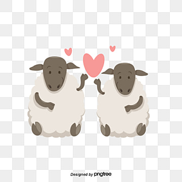 Goat couples on Valentines Day eid al adha, Animal, Cartoon, Lovely PNG and Vector