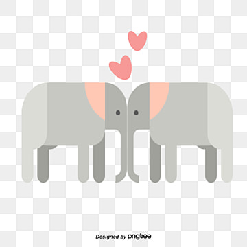 grey elephant on valentines day, Animal, Cartoon, Lovely PNG and Vector