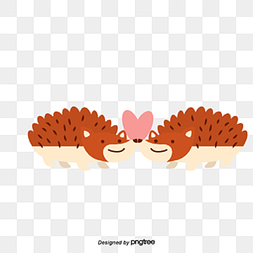 Hedgehog Lovers on Valentines Day, Hedgehog, Animal, Cartoon PNG and Vector