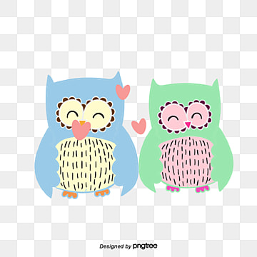Valentines Day Animal Couple Element Owl, Animal, Cartoon, Lovely PNG and Vector