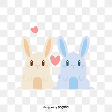 valentines day animal lovers, Rabbit, Animal, Cartoon PNG and Vector