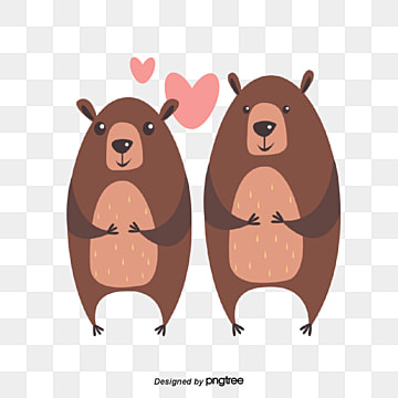 Valentines Day Bear Animal Lovers, Animal, Cartoon, Lovely PNG and Vector