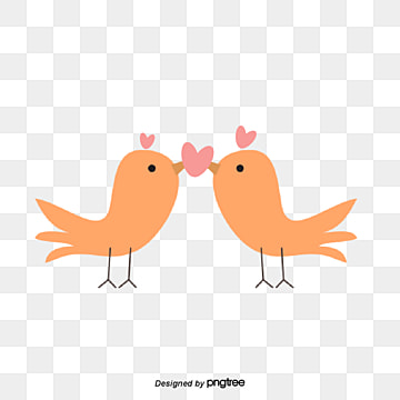 valentines day bird lovers, Kiss, Animal, Cartoon PNG and Vector