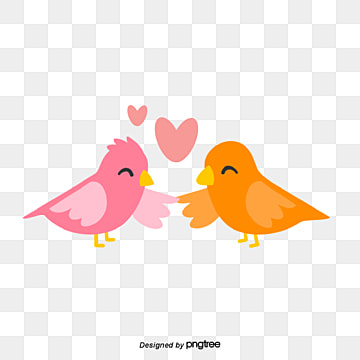 valentines day bird lovers, Animal, Cartoon, Lovely PNG and Vector
