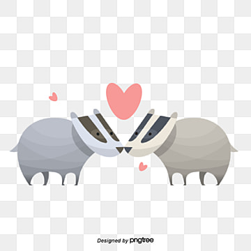 Valentines Day Bull Animal Lovers, Animal, Cartoon, Lovely PNG and Vector