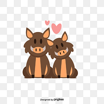 valentines day bull lovers, Animal, Cartoon, Lovely PNG and Vector