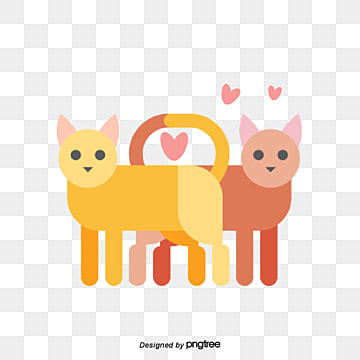 Valentines Day Cat Lovers, Animal, Cartoon, Lovely PNG and Vector