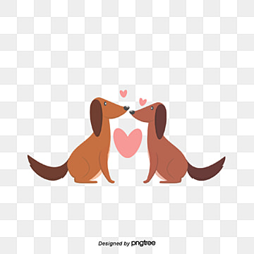 Valentines Day Dog Lovers, Kiss, Animal, Cartoon PNG and Vector