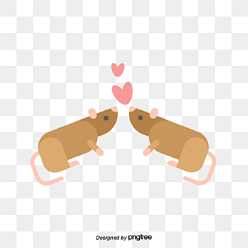valentines day mouse and animal lovers, Animal, Cartoon, Lovely PNG and Vector