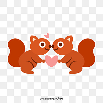 valentines day red animal lovers, Close, Animal, Cartoon PNG and Vector