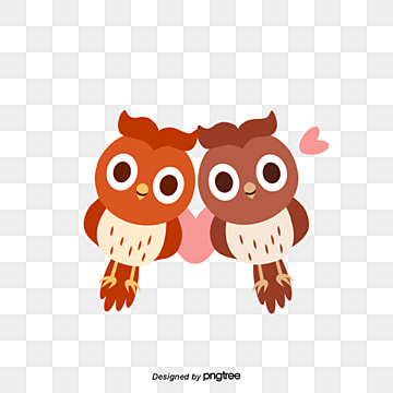 woodpecker couples on valentines day, Animal, Cartoon, Lovely PNG and Vector