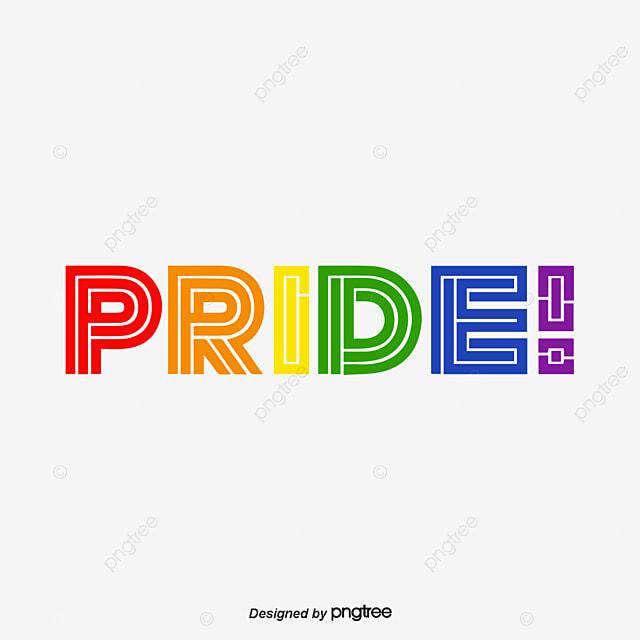 Pride Moon Color Line Font, Creative, Typeface, Color PNG