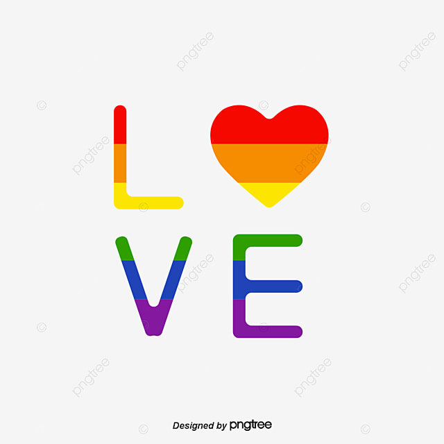 Pride Moon Rainbow Love Font, Creative, Typeface, Equality